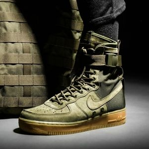 "Nike SF Air Force 1 ""Faded Olive"" Rare"